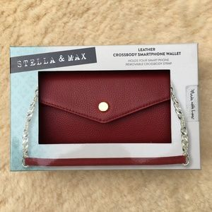 Stella & Max Red Leather Crossbody (New in Box)